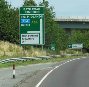 Newbury Bypass Sign